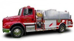 RESPONDING FIRE TANKER ROLLS IN PA-BUT THE MEMBERS WERE BELTED AND THE MEMBERS ARE FINE….