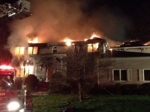 MA FF INJURED AT HOUSE FIRE/EXPLOSION