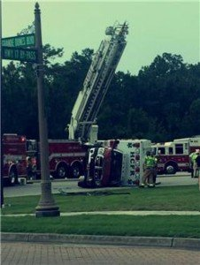 AMBULANCE ROLLOVER IN SC