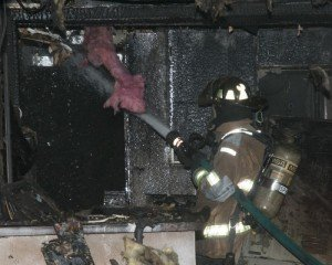 MI FF SUFFERS SMOKE INHALATION AT FIRE