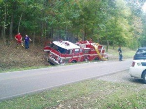 APPARATUS CRASH IN TENNESSEE