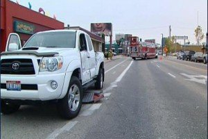 IDAHO TILLER LADDER STRIKES VEHICLE WHILE RESPONDING-TILLER DRIVER NOT ON BOARD