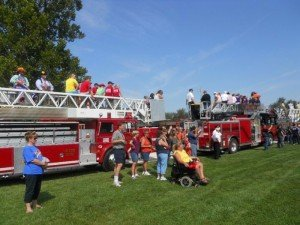 BURN CAMP KIDS – FALL FROM FIRE TRUCK???