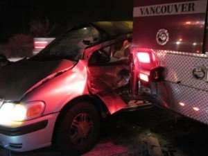 WASHINGTON FIRE APPARATUS REAR-ENDED AT SCENE