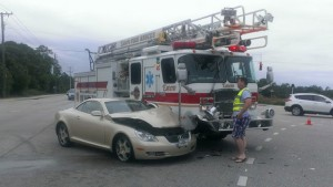 LADDER TRUCK INVOLVED IN FL CRASH