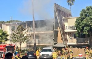 FIREFIGHTER INJURED AT CA APARTMENT FIRE