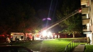 FIREFIGHTER INJURED AT PA APARTMENT FIRE