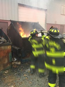 DUMPSTERS FIRES REQUIRE SCBA TOO! DON'T BE A DUMMY!