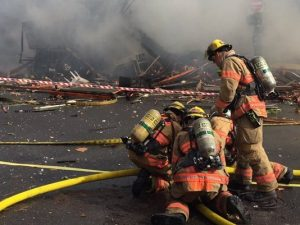 EXPLOSION INJURES 3 PORTLAND FIREFIGHTERS