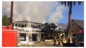 CA FIREFIGHTER SUFFERS HEAT EXHAUSTION AT FIRE