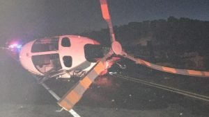 DRUNK DRIVER CRASHES INTO MEDICAL HELICOPTER IN NM