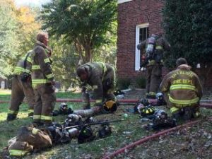 2 NC FIREFIGHTERS INJURED AT HOUSE FIRIE