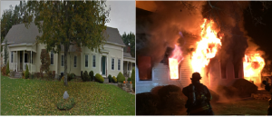 CLOSE CALL AT COVENTRY, RI HOUSE FIRE – INDOOR POOL