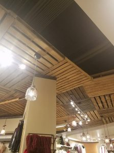 PALLETS AS CEILING COVERING – A REASON FOR FIRE INSPECTIONS!