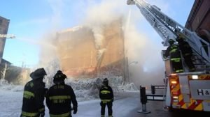 FIREFIGHTER INJURED AT ST LOUIS COLD STORAGE WAREHOUSE FIRE