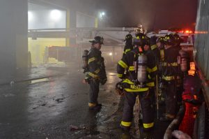 2 FDNY FIREFIGHTERS INJURED AT RECYCLING PLANT FIRE