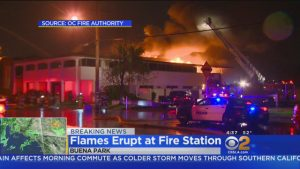 FIREHOUSE FIRE IN ORANGE CO. CA