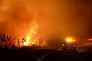 FIREFIGHTERS DESCRIBE PANIC AT WILDFIRE