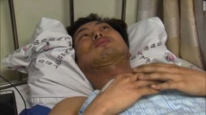 SOUTH KOREAN FIREFIGHTER INJURED IN HEROIC RESCUES