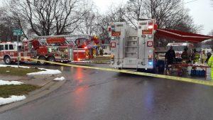 FIREFIGHTER FALLS THROUGH FLOOR AT NY FIRE