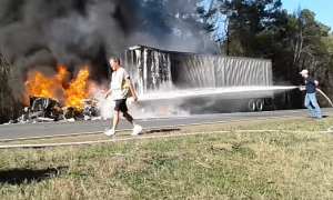 NO PPE TRUCK FIRE VIDEO