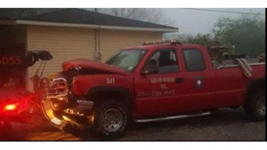 "INTOXICATED FIREFIGHTER ""STEALS"" AND CRASHES FIRE APPARATUS"