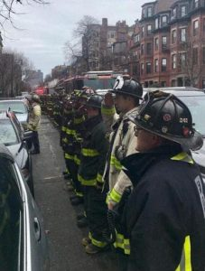 A spare commemoration of fatal Beacon Street fire