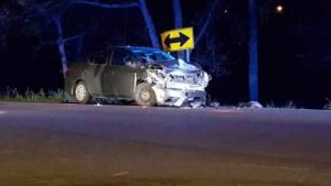 FIREFIGHTER, EMT & COP ALL STRUCK AT CRASH SCENE