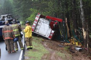 FIRE APPARATUS CRASH IN GEORGIA-WHILE RETURNING TO QUARTERS