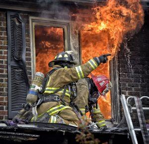 PA FIREFIGHTER SUFFERS FOOT BURNS AT DUPLEX FIRE