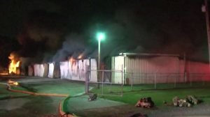 HOUSTON FIREFIGHTER HOSPITALIZED AFTER FIRE