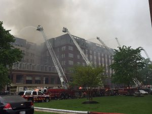2 FIREFIGHTERS INJURED AT 5ALARM PG CO MD FIRE