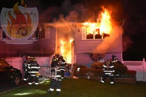 2 FIREFIGHTERS FALL THROUGH FLOOR AT LONG ISLAND HOUSE FIRE
