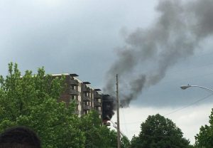 5 FIREFIGHTERS INJURED AT DAYTON, OH HIGH-RISE FIRE