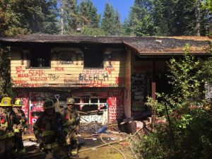 FIREFIGHTER INJURED AT VACANT OR HOUSE FIRE