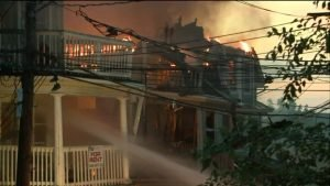 4 CT FIREFIGHTERS HOSPITALIZED AFTER FIRE