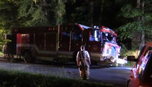 RESPONDING FIRE APPARATUS CRASH IN MARYLAND INJURES FIREFIGHTERS