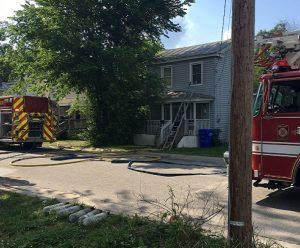 VA FIREFIGHTER INJURED AT HOUSE FIRE