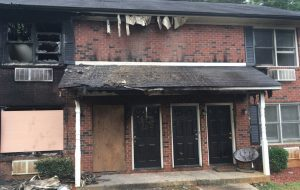 N.C. FIREFIGHTER INJURED AT APARTMENT FIRE