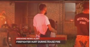 TENN. FIREFIGHTER FALLS FROM ROOF AT ARSON FIRE