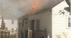 TWO OHIO FIREFIGHTERS INJURED AT HOUSE FIRE
