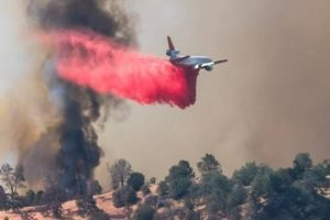"CALIFORNIA FIREFIGHTER FLOWN OUT AFTER APPARATUS ROLLS/CRASHES AT THE MASSIVE ""DETWILER"" WILDLAND FIRE"