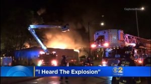 CHICAGO FIREFIGHTER INJURED AT METAL PLANT EXPLOSION, FIRE
