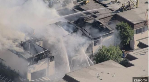 THREE L.A. FIREFIGHTERS HURT AT CONDO FIRE