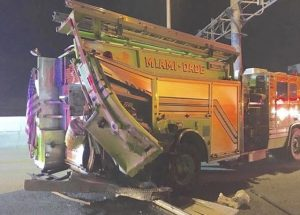 FATAL FIRE APPARATUS CRASH-CLOSE CALL FOR FIREFIGHTERS IN FLORIDA