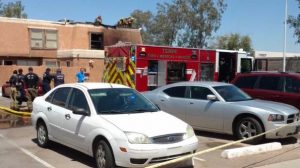 TWO ARIZONA FIREFIGHTERS BURNED AT FATAL APARTMENT FIRE