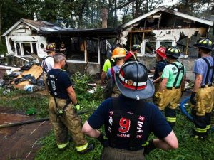 PA FIREFIGHTER SUFFERS SMOKE INHALATION AT FIRE
