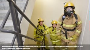 AUSSIE FIREFIGHTERS CLIMB STAIRS FOR MENTAL HEALTH