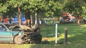 FATAL FIRE APPARATUS CRASH LEAVES CIVILIAN DEAD AND 4 FIREFIGHTERS INJURED