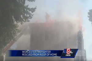 MAYDAY – FIREFIGHTER TRAPPED ON ROOF!